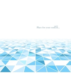 Geometric abstract background with a perspective vector image