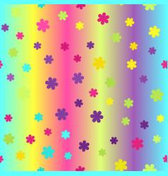 Glowing flower pattern seamless vector