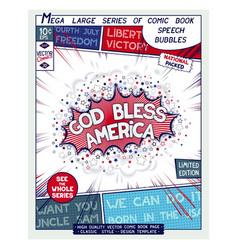 God bless america motivation slogan vector