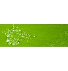 Green Christmas banner vector image vector image