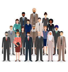 group of business people set of flat men and vector image