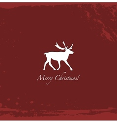 Grunge red vintage reindeer background vector