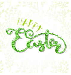 Happy easter lettering typography seasons vector