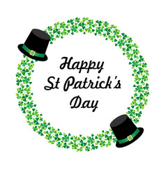 happy saint patricks day graphic with hats vector image