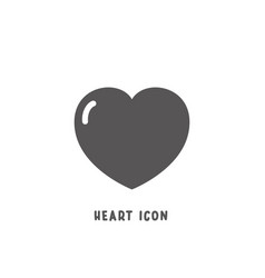 heart icon simple flat style vector image