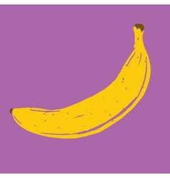 Isolated hand drawn banana vector image