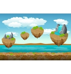 Jumping islands game pattern the river bottom and vector image