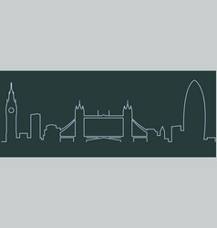 london single line skyline vector image