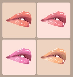 Make-up lips vector