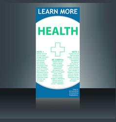 Medical brochure flyer design template a4 size vector
