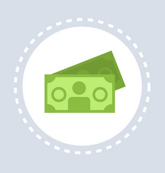 money cash banknotes icon shopping concept flat vector image