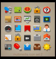 Multimedia icon set-2 vector