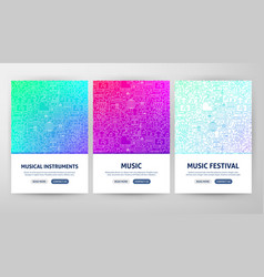 Music flyer concepts vector