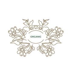 nature logo organic card simple bio label vector image