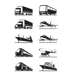 Passenger and cargo transportations vector image