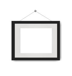 picture frame with white background vector image