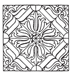 Pillow pattern is a german renaissance design vector