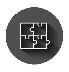 Puzzle compatible icon in flat style jigsaw vector