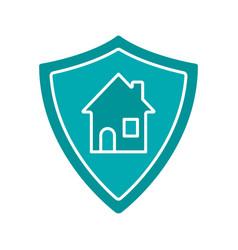 real estate security glyph color icon vector image