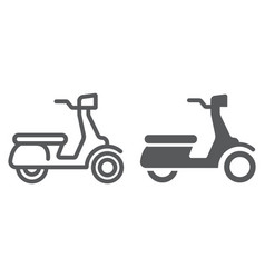 scooter line and glyph icon vehicle and transport vector image
