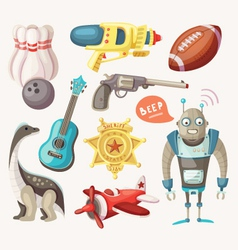 Set of toys for children vector
