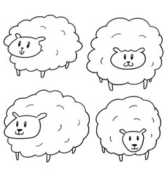 set sheep vector image