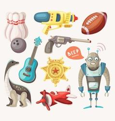 set toys for children vector image