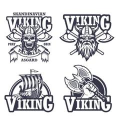 Set viking emblems vector