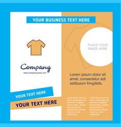 shirt company brochure template busienss template vector image