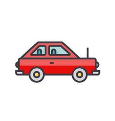 simple cute car vehicle flat line vector image