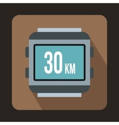 Speedometer bike icon flat style vector