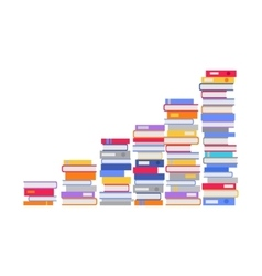 Stack of Books in the Form of Stairs vector image