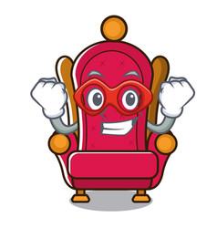 super hero king throne character cartoon vector image