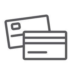 swipe credit card line icon bank and transaction vector image