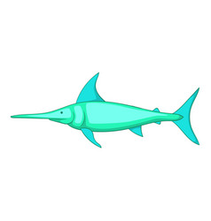 swordfish icon cartoon style vector image