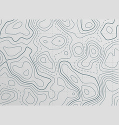Topographic contour line map background vector