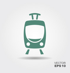 tram icon flat vector image