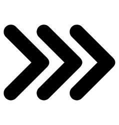 Triple arrowhead right flat icon vector