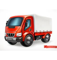 truck 3d icon vector image