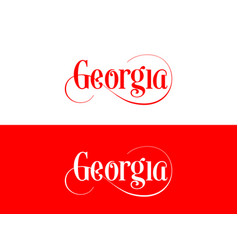 typography of the usa georgia states handwritten vector image