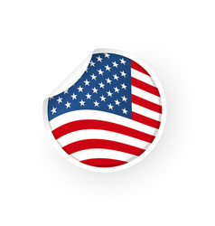 usa flag icon sticker vector image