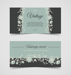 Vintage background cards vector image vector image