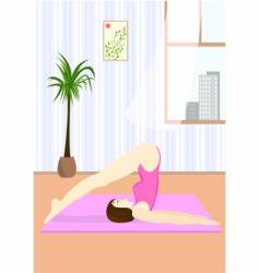 young woman doing the Yoga vector image