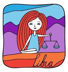 Zodiac signs Libra vector image