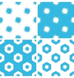 Burst patterns set vector image