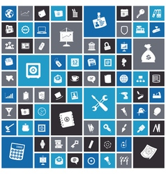 Flat design icons for business and industrial vector image