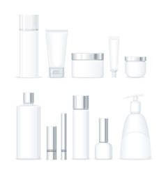 Set of Bottles for Cosmetics Isolated vector image