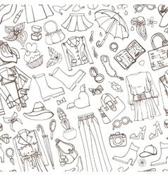 Spring fashion womens wear seamless pattern vector