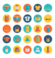 clothing icons - flat vector image
