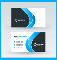 Double sided horizontal business card template vector image double sided horizontal business card template vector image vector image reheart Gallery